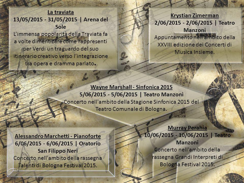 Wayne Marshall - Sinfonica 2015 5/06/2015 - 5/06/2015 | Teatro Manzoni