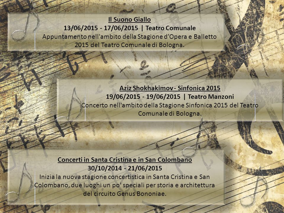 13/06/2015 - 17/06/2015 | Teatro Comunale
