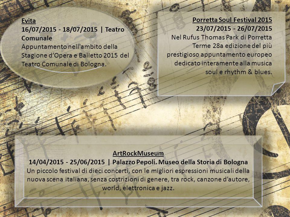 Evita 16/07/2015 - 18/07/2015 | Teatro Comunale. Appuntamento nell ambito della Stagione d'Opera e Balletto 2015 del Teatro Comunale di Bologna.