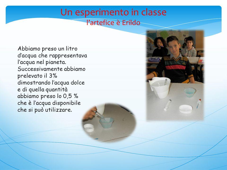 Un esperimento in classe