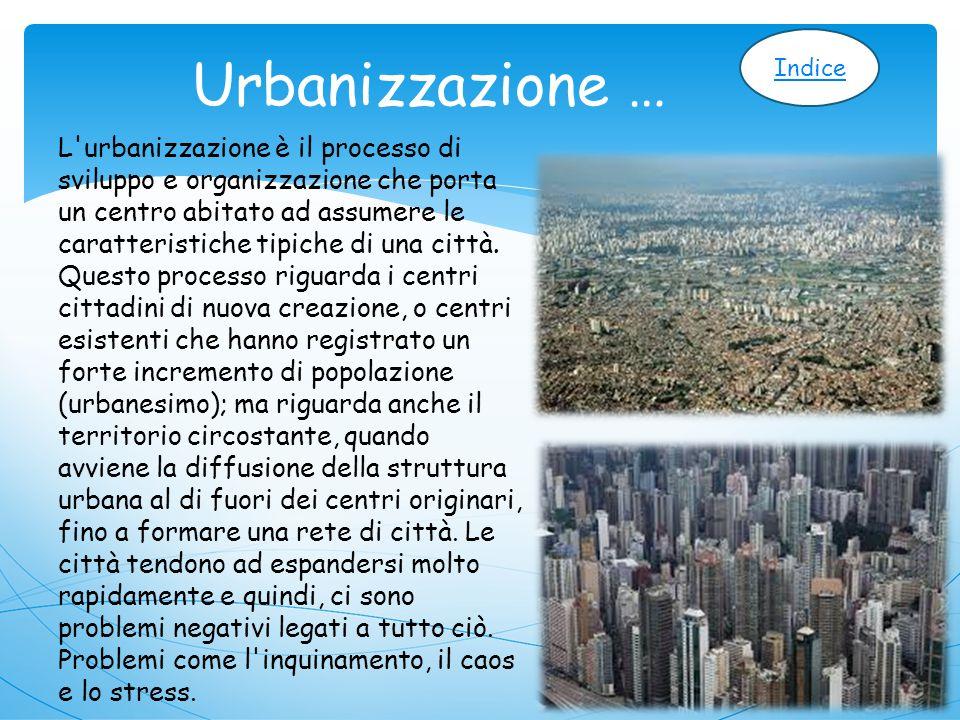 Urbanizzazione … Indice.
