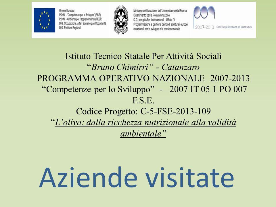 Aziende visitate Istituto Tecnico Statale Per Attività Sociali