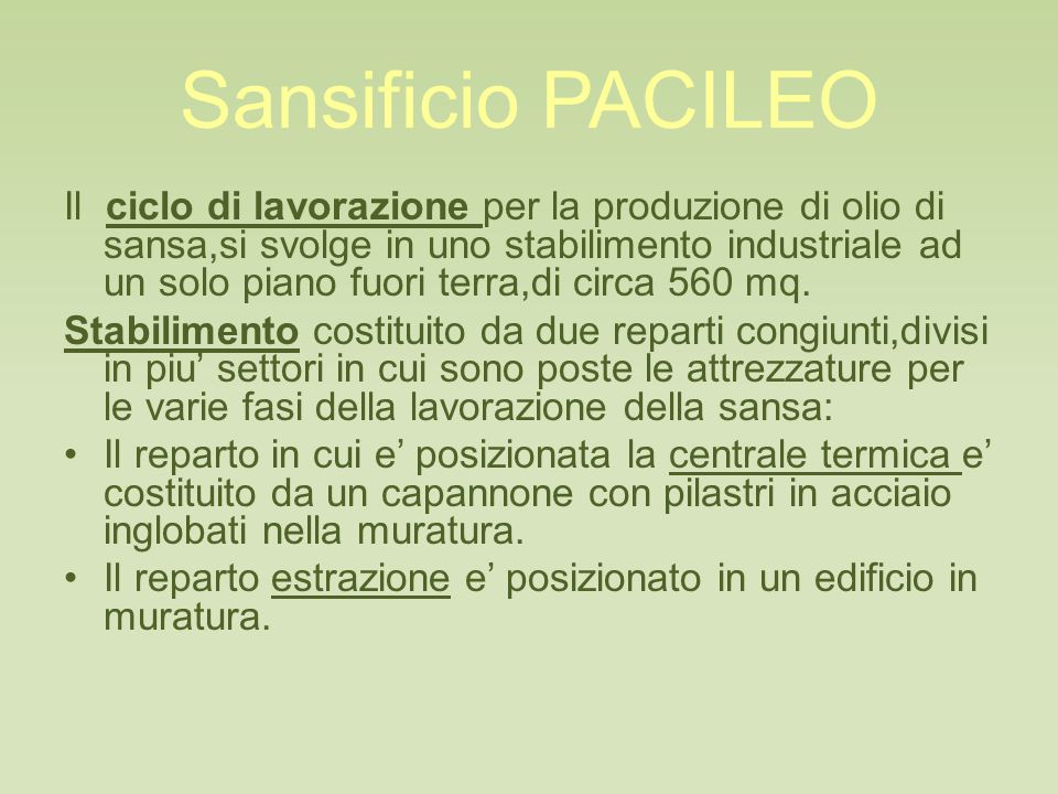 Sansificio PACILEO