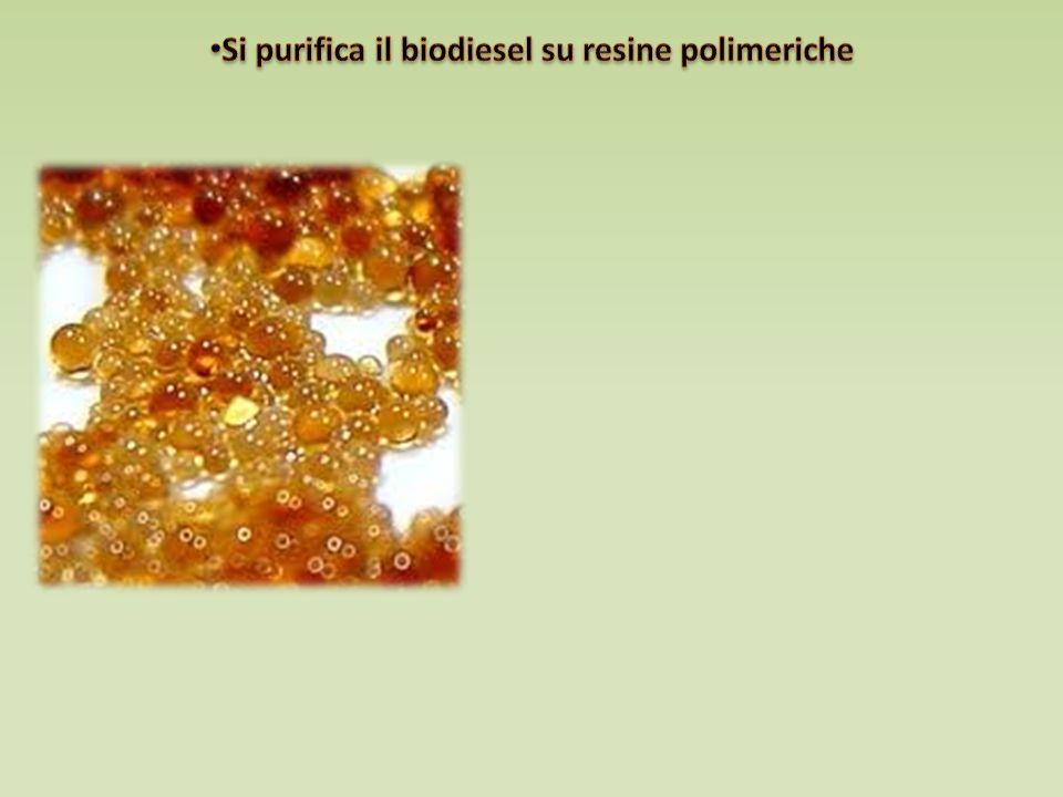 Si purifica il biodiesel su resine polimeriche