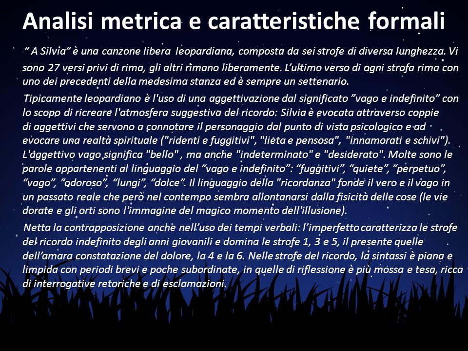 Analisi metrica e caratteristiche formali