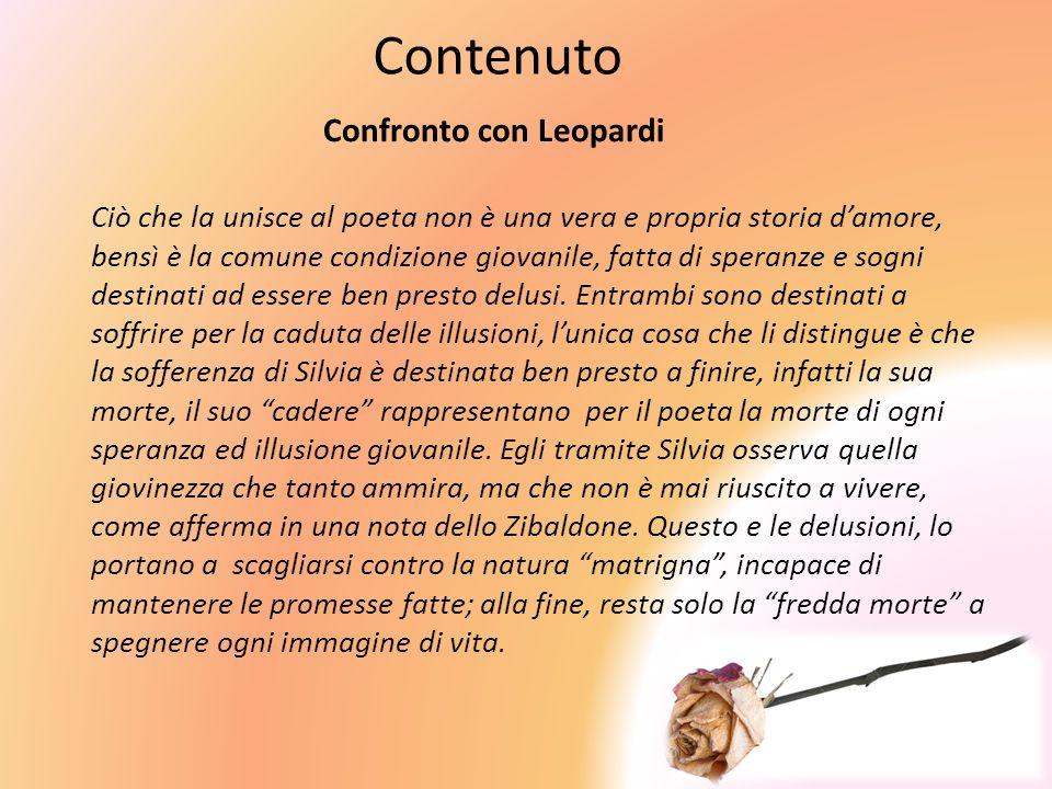 Contenuto Confronto con Leopardi