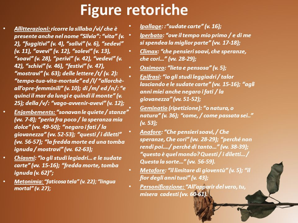 Figure retoriche Ipallage: : sudate carte (v. 16);