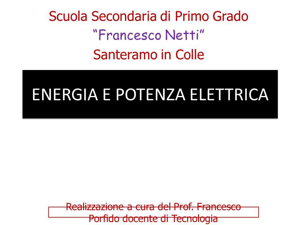 ENERGIA E POTENZA ELETTRICA