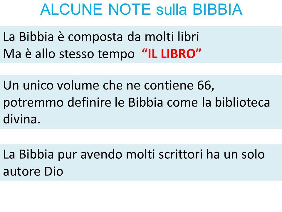 ALCUNE NOTE sulla BIBBIA
