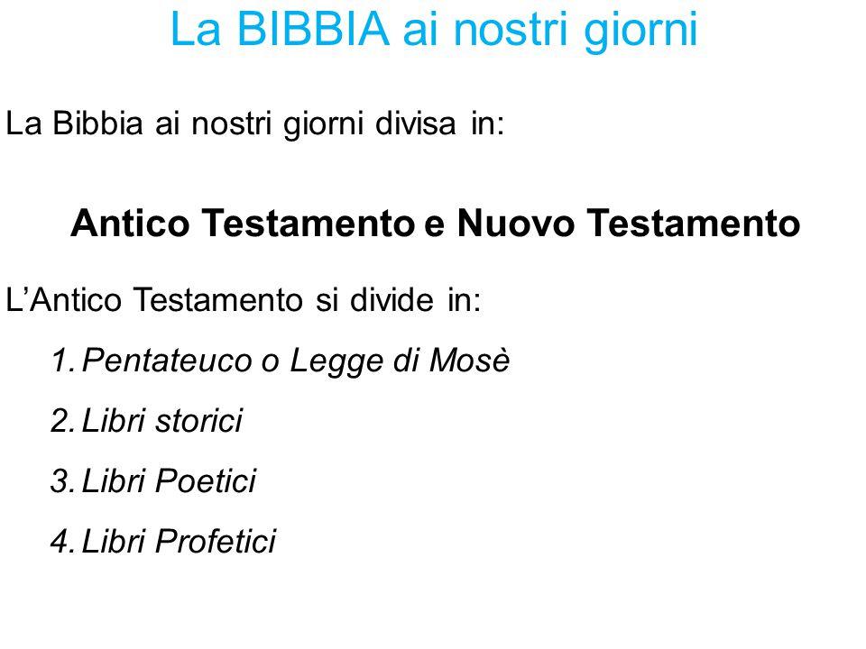 La BIBBIA ai nostri giorni