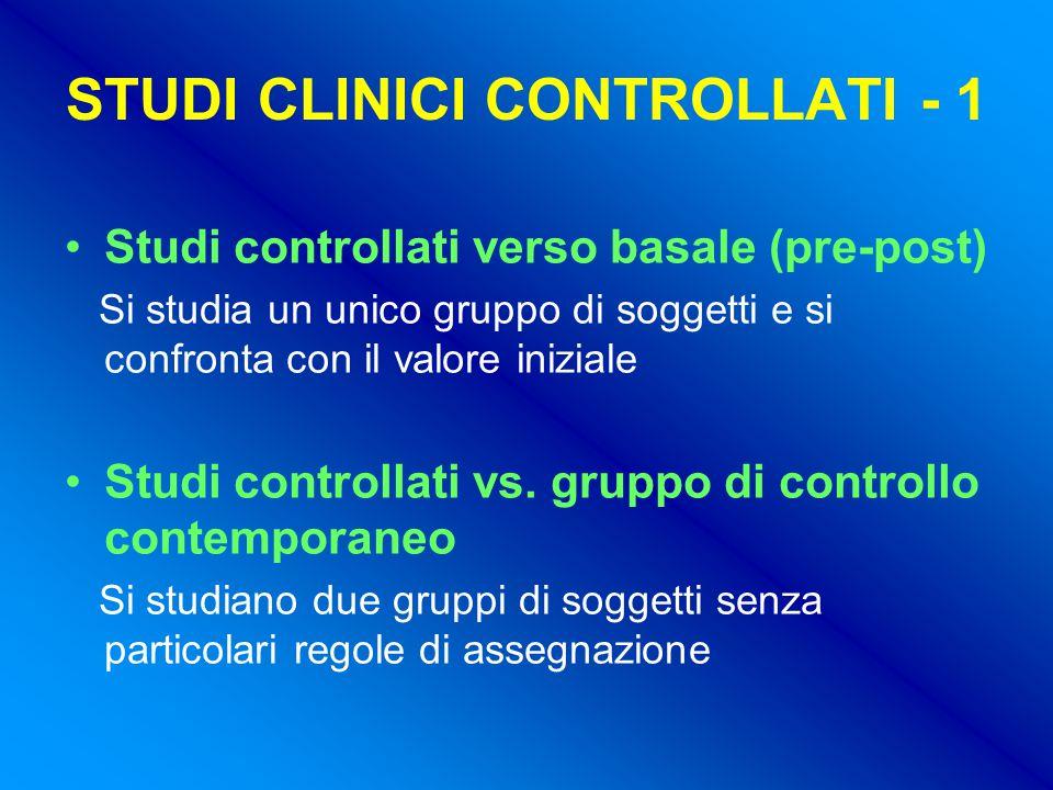 STUDI CLINICI CONTROLLATI - 1