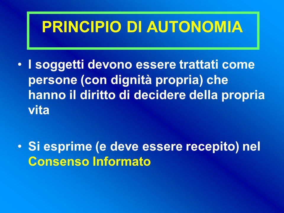 PRINCIPIO DI AUTONOMIA
