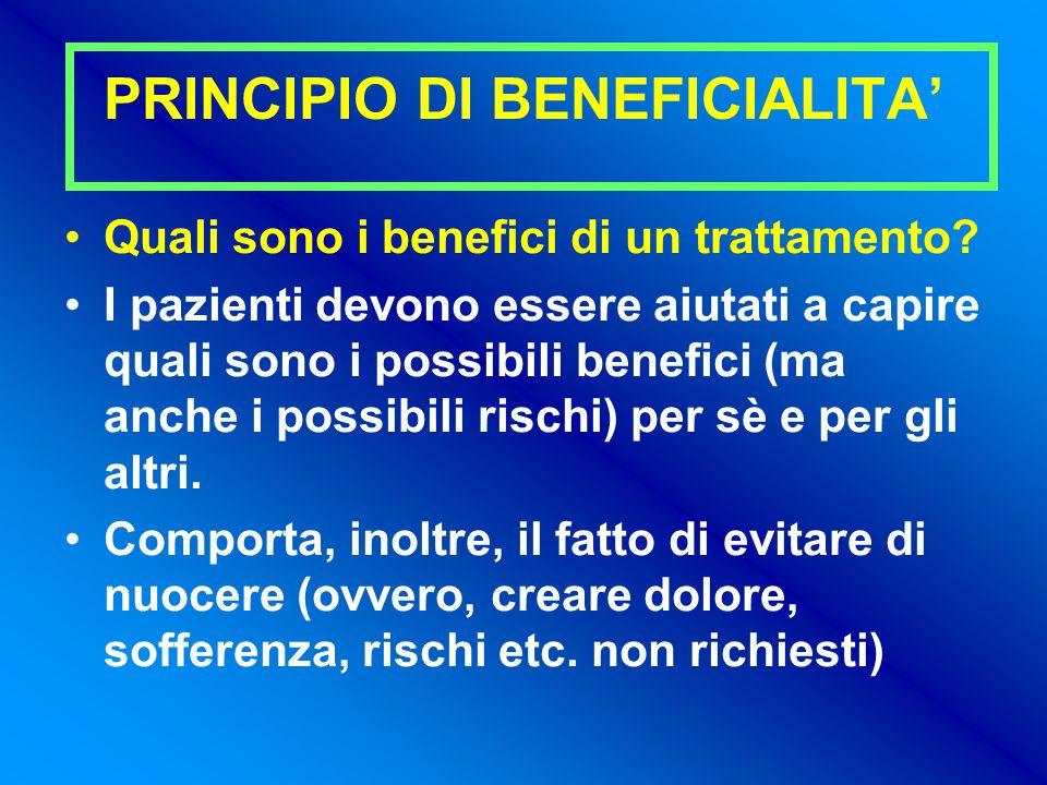 PRINCIPIO DI BENEFICIALITA'