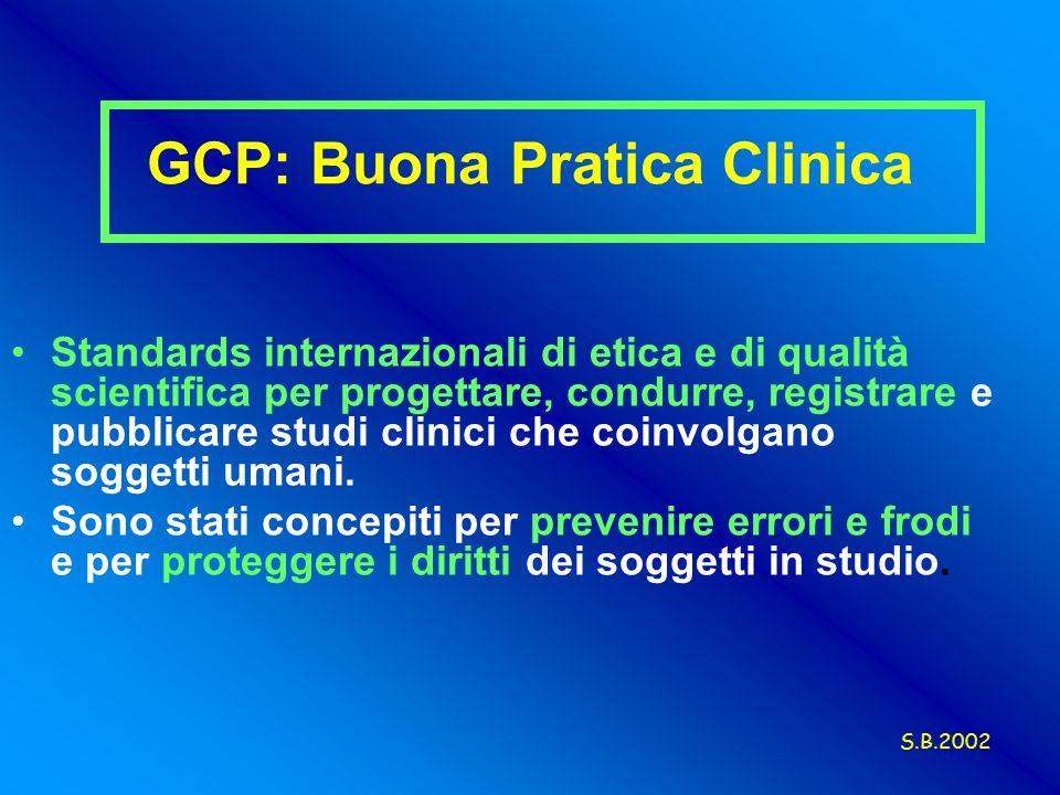 GCP: Buona Pratica Clinica