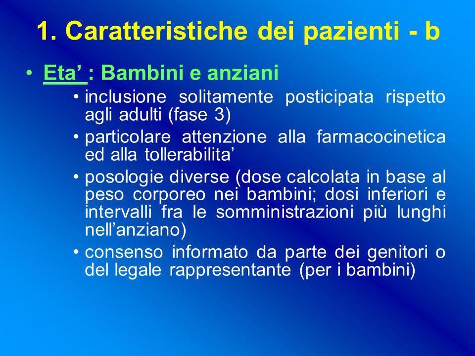1. Caratteristiche dei pazienti - b