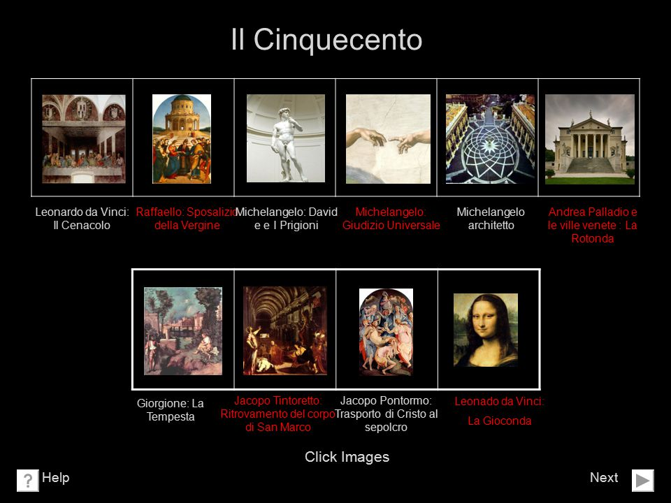 Il Cinquecento Click Images Help Next Leonardo da Vinci: Il Cenacolo