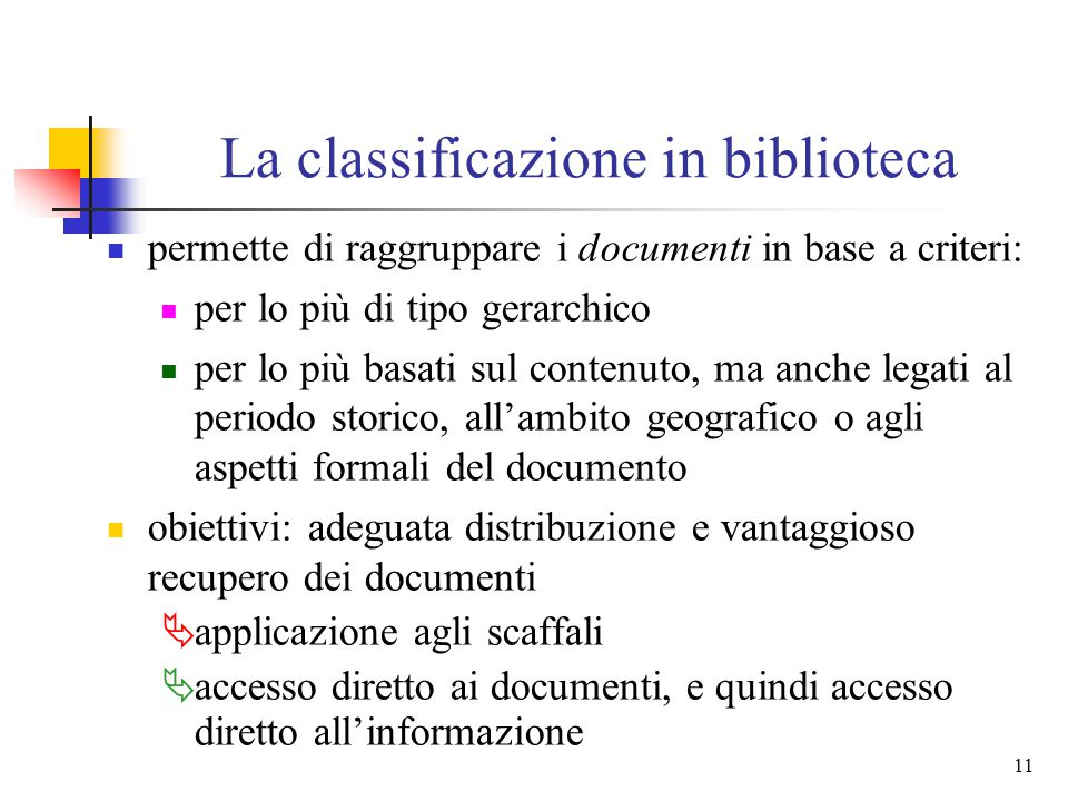 La classificazione in biblioteca