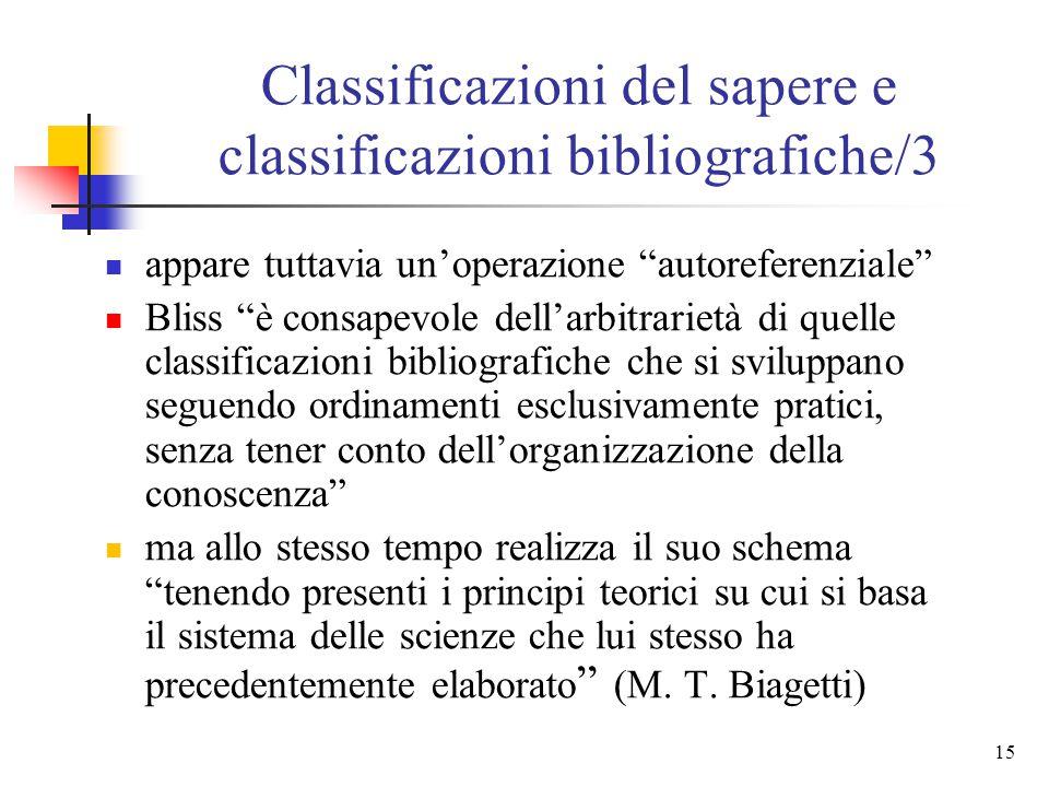Classificazioni del sapere e classificazioni bibliografiche/3