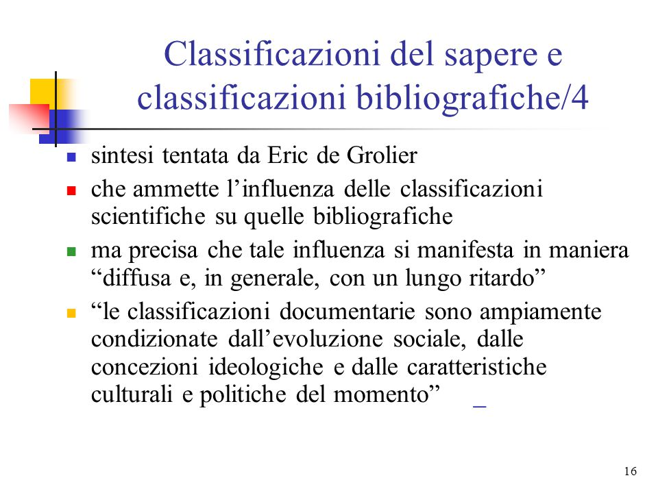 Classificazioni del sapere e classificazioni bibliografiche/4