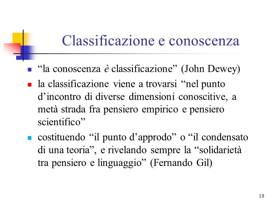 Classificazione e conoscenza
