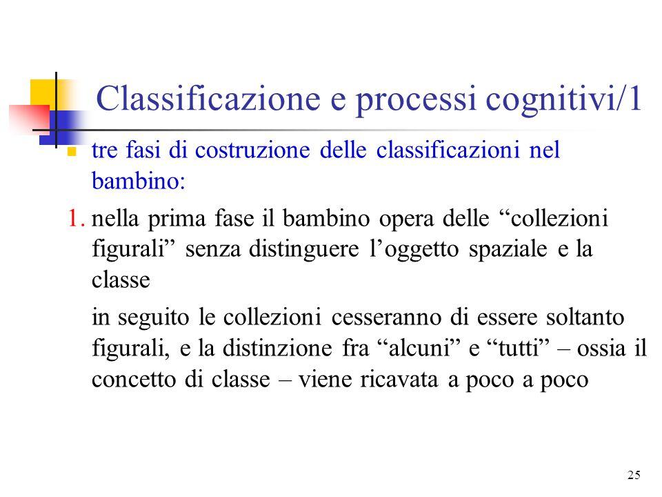 Classificazione e processi cognitivi/1