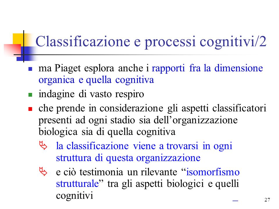 Classificazione e processi cognitivi/2