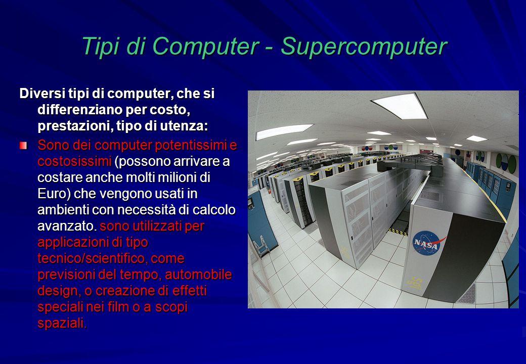 Tipi di Computer - Supercomputer