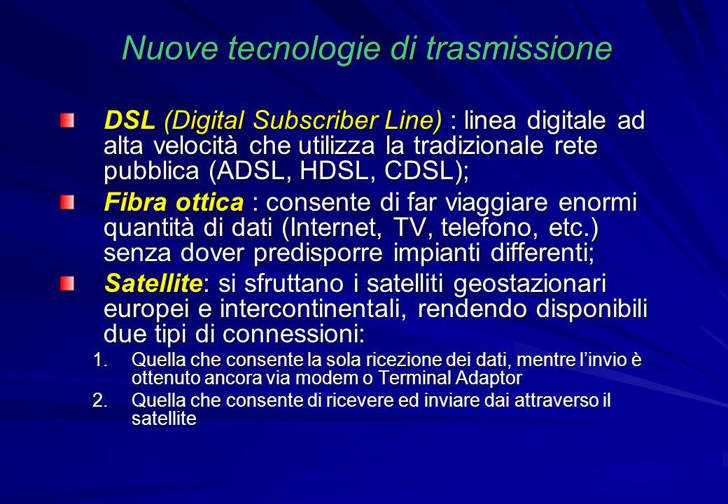 Nuove tecnologie di trasmissione
