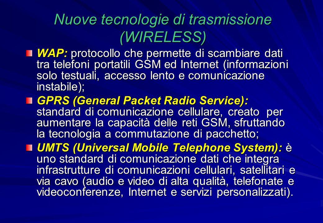 Nuove tecnologie di trasmissione (WIRELESS)
