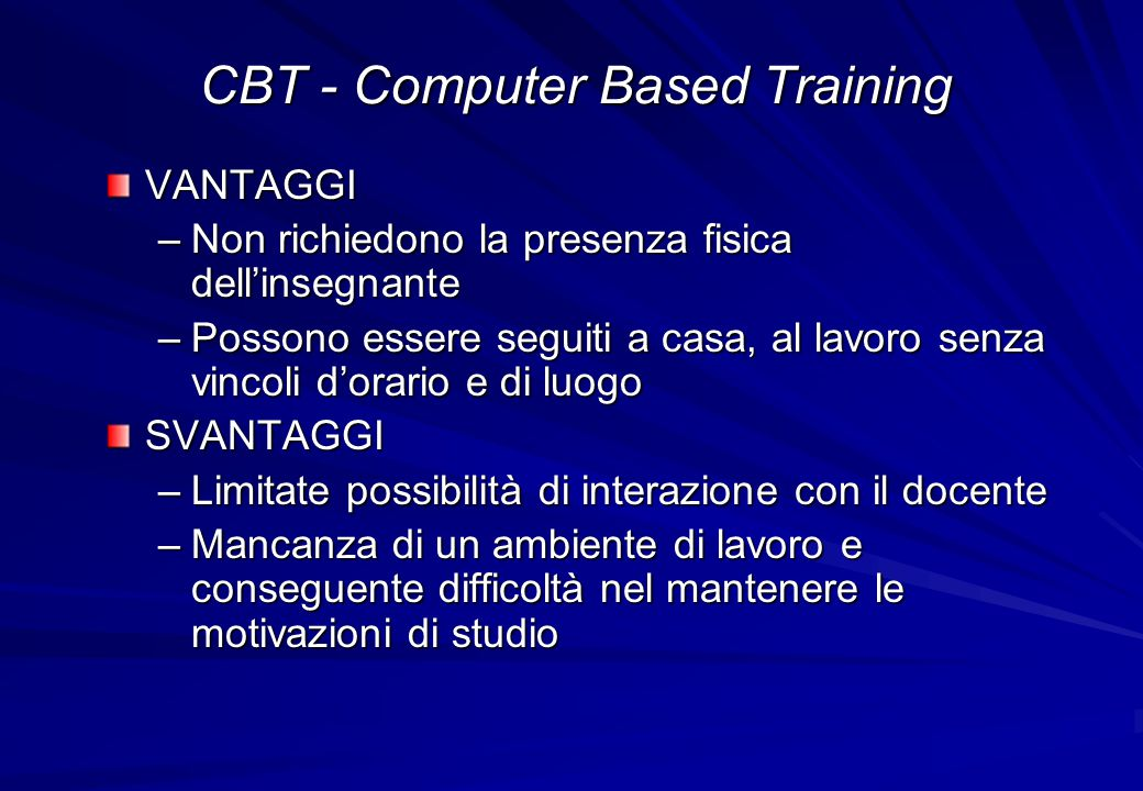 CBT - Computer Based Training