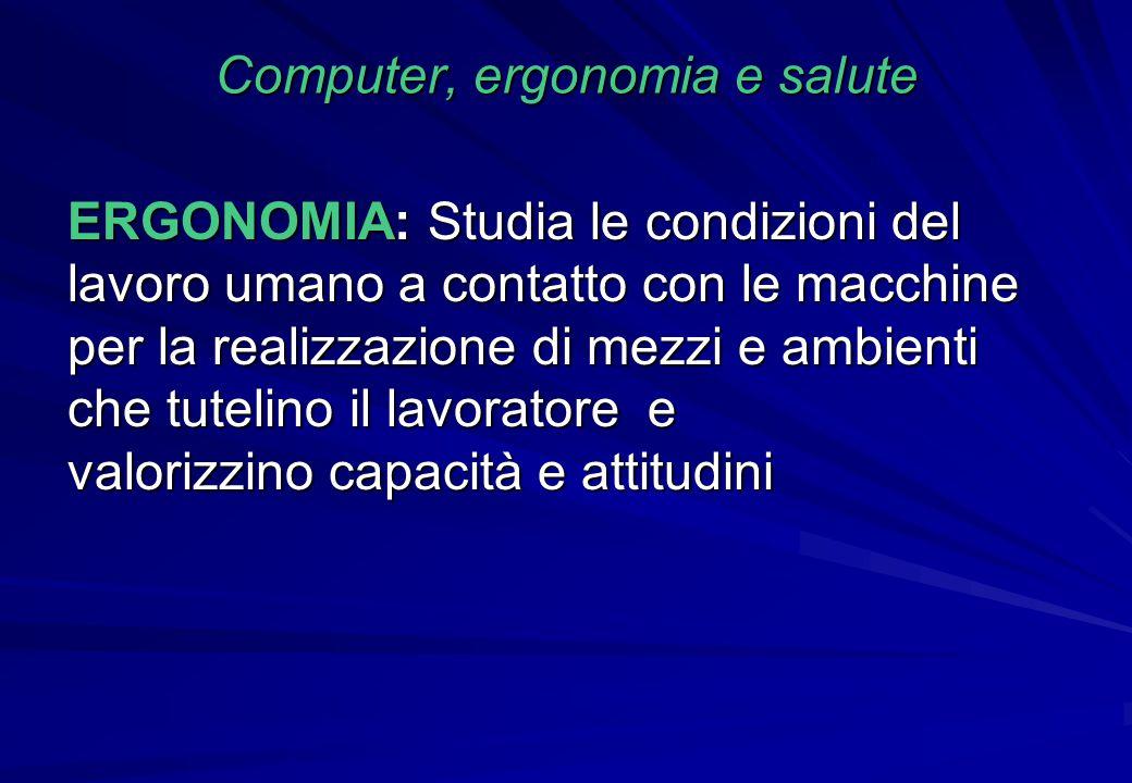 Computer, ergonomia e salute