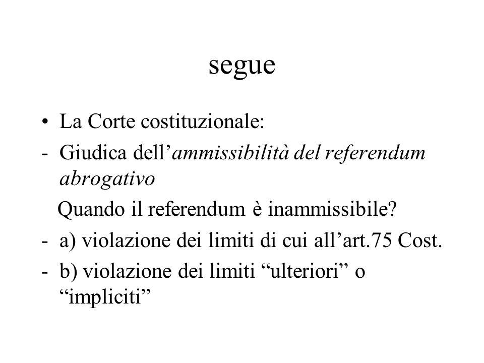 segue La Corte costituzionale: