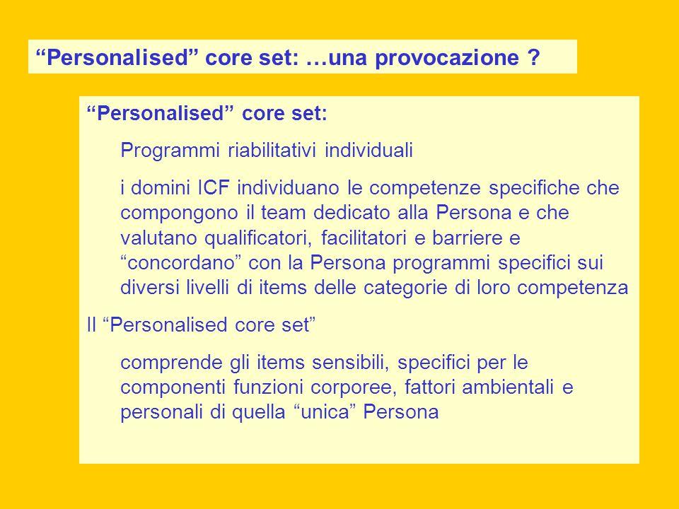 Personalised core set: …una provocazione