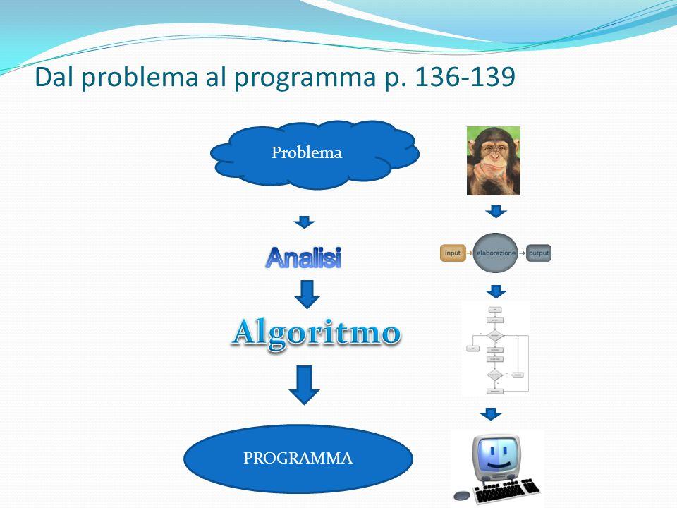 Dal problema al programma p. 136-139