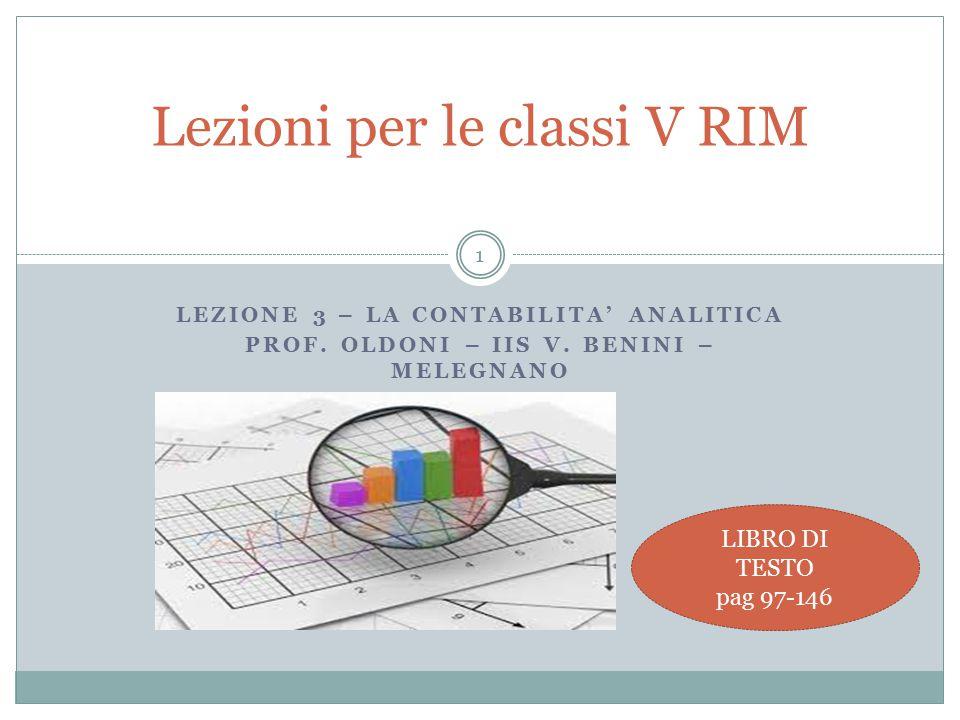 Lezioni per le classi V RIM