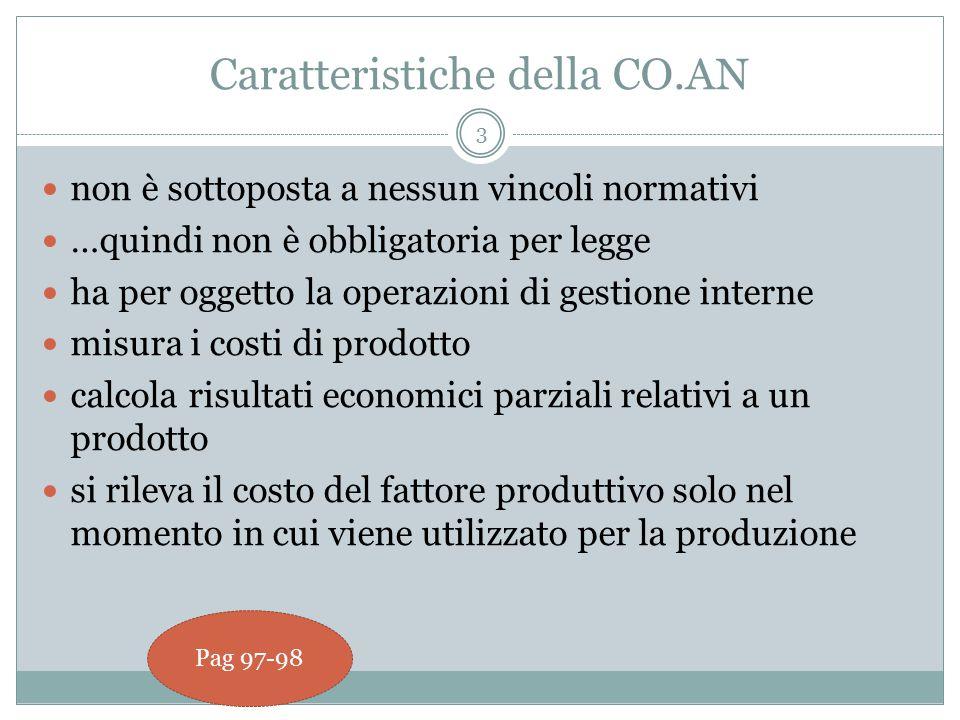 Caratteristiche della CO.AN