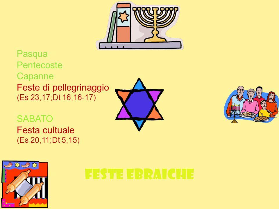 Feste ebraiche Pasqua Pentecoste Capanne Feste di pellegrinaggio