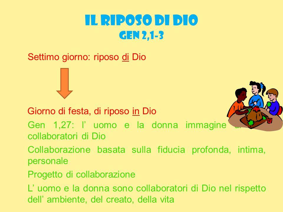 IL RIPOSO DI DIO Gen 2,1-3
