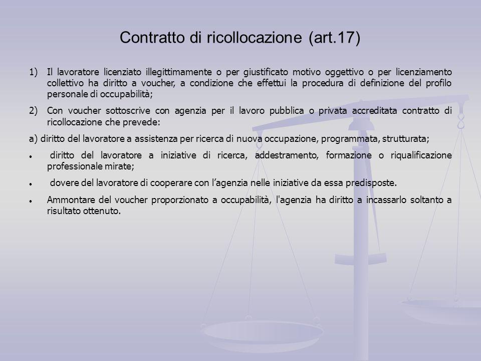 Contratto di ricollocazione (art.17)