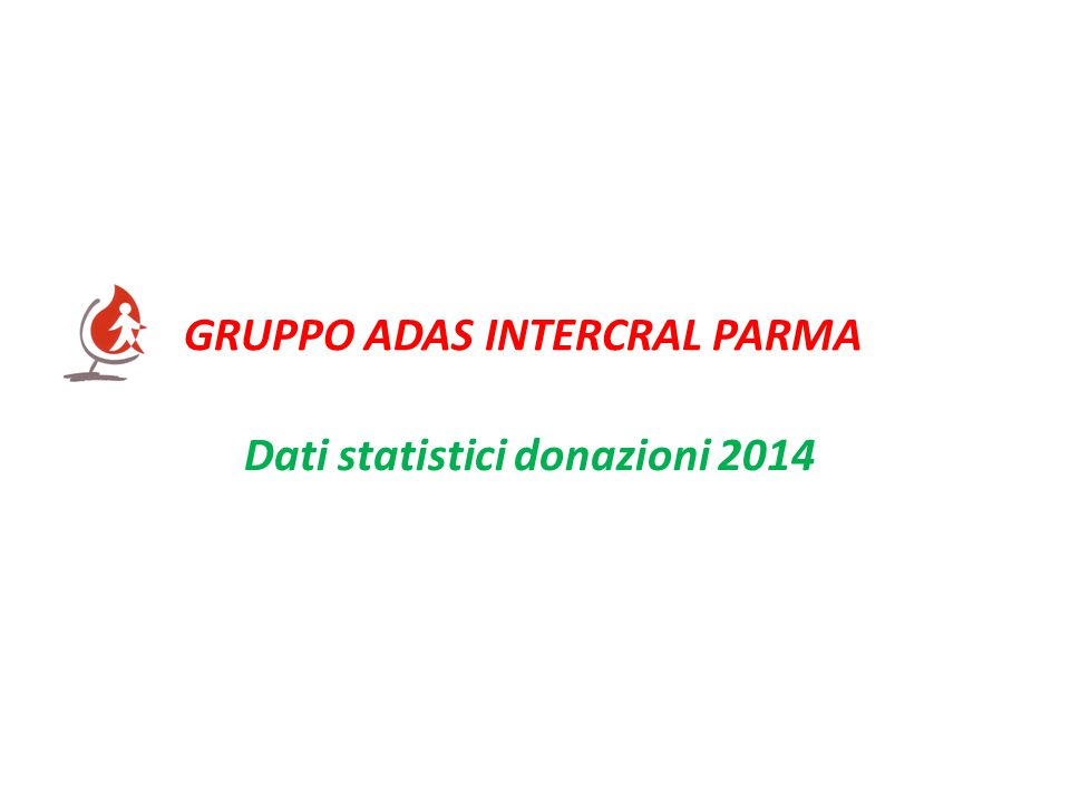 Dati statistici donazioni 2014