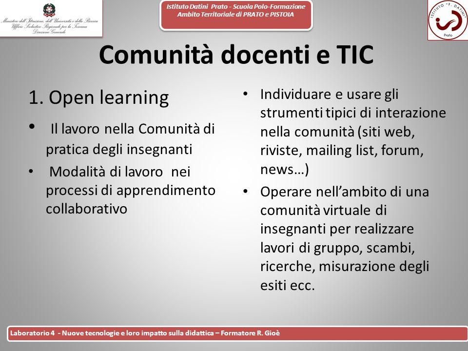 Comunità docenti e TIC 1. Open learning