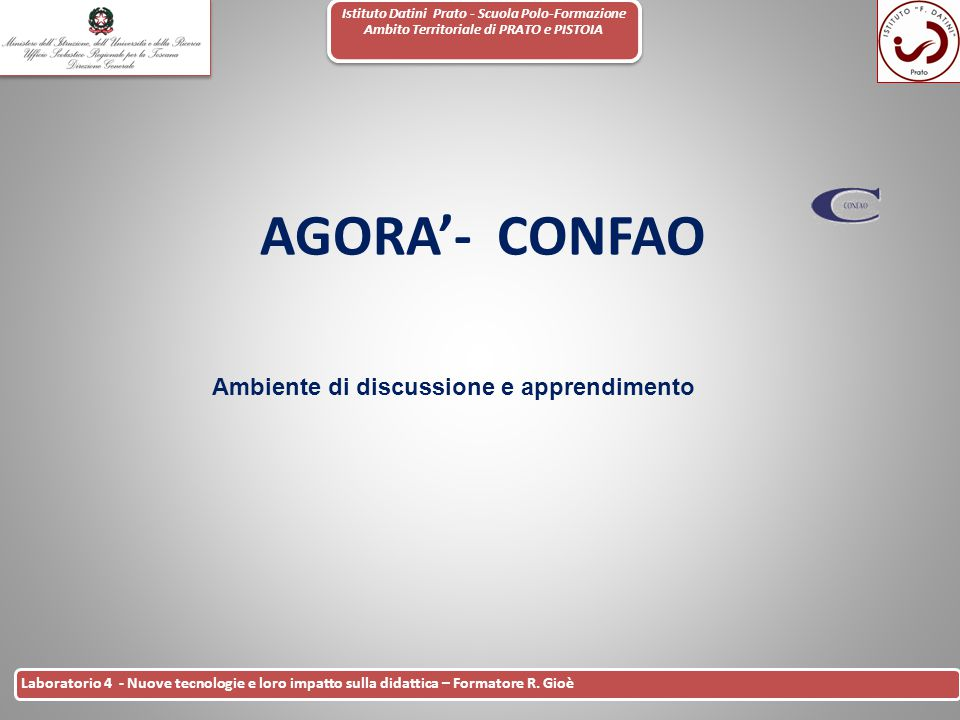 Ambiente di discussione e apprendimento