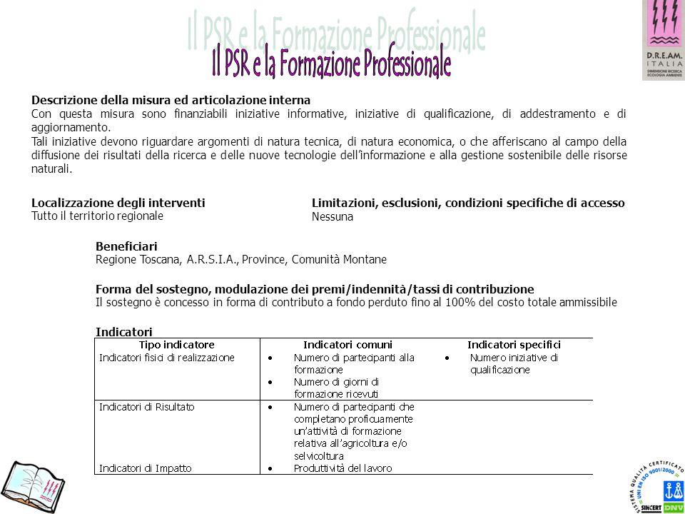 Il PSR e la Formazione Professionale