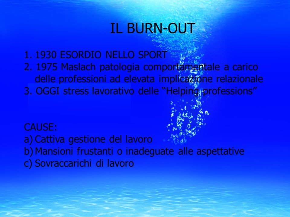 IL BURN-OUT 1930 ESORDIO NELLO SPORT