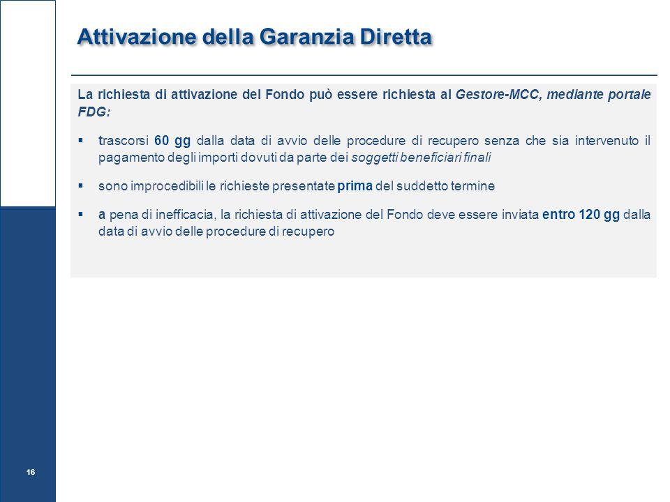 Attivazione della Garanzia Diretta