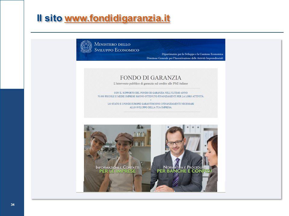 Il sito www.fondidigaranzia.it