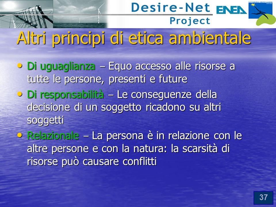 Altri principi di etica ambientale