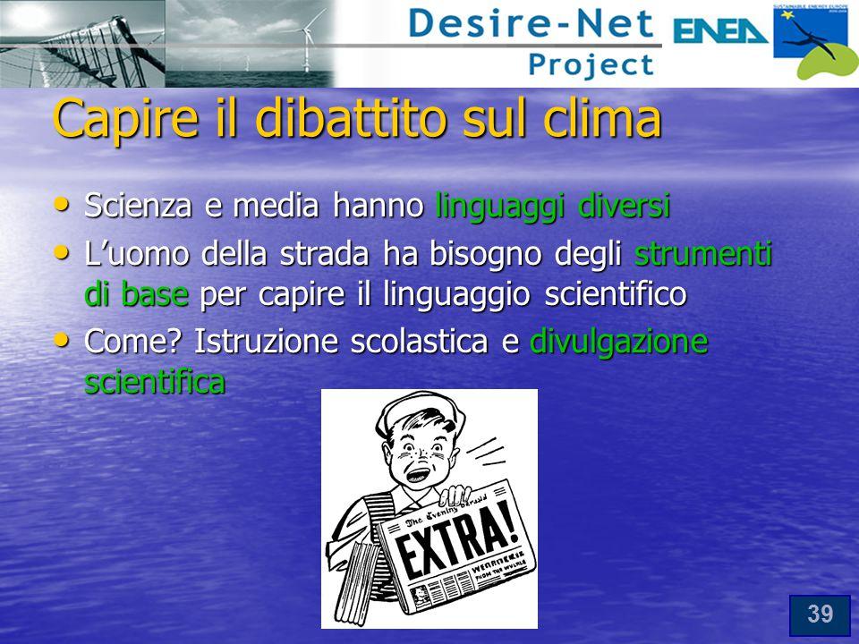 Capire il dibattito sul clima