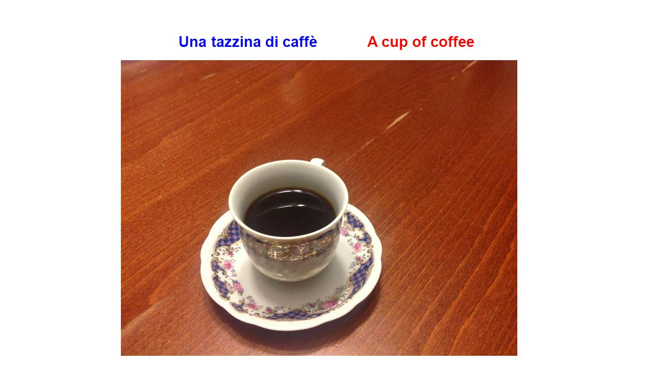 Una tazzina di caffè A cup of coffee