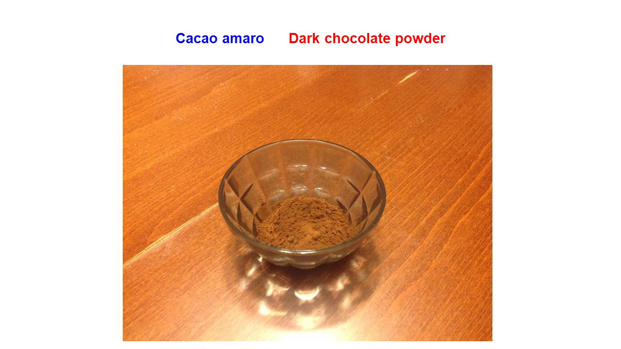 Cacao amaro Dark chocolate powder